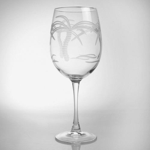 Palm Tree Large AP Wine Glass 18oz Set of 4
