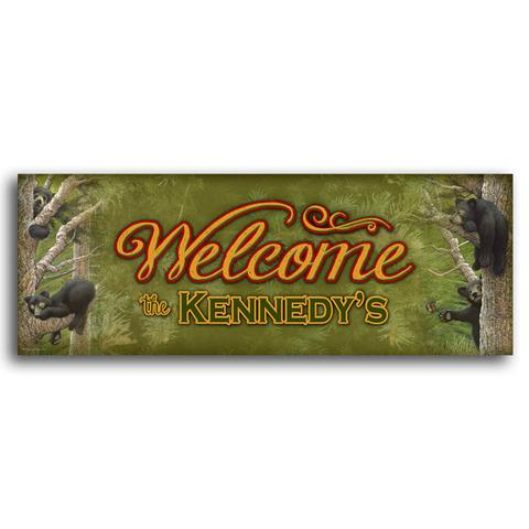 Welcome Bear Cub Sign