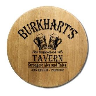 Beer Glass Tavern Barrel Head Sign
