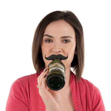 Silicone Bottle Mustache Rings (set of 6)
