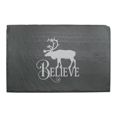 Believe Reindeer Slate Cheese Server
