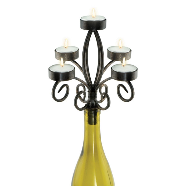 Scroll 5-Tealight Candelabra