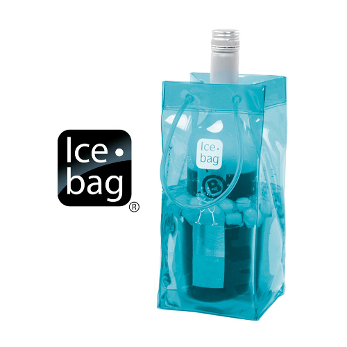 Ice Bag Collapsible Wine Cooler Bag, Blue Lagoon