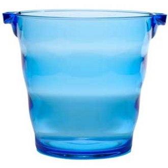 Blue Plastic Party Bucket, 2 Bottle