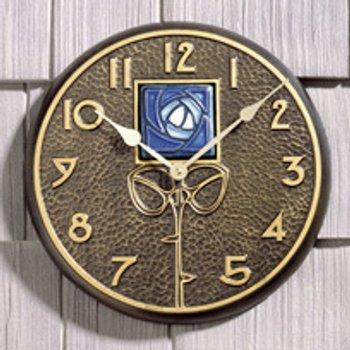 Blue Dard Hunter Rose Clock