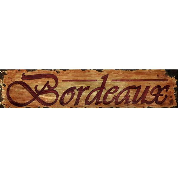 Personalized Bordeaux Wine Sign