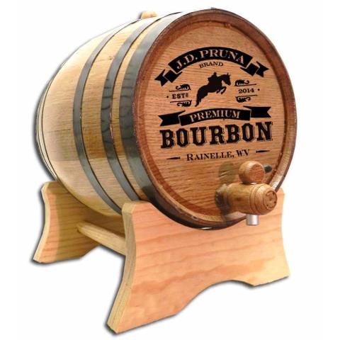 Personalized High Horse Bourbon Make Your Own Spirits Oak Aging Barrel