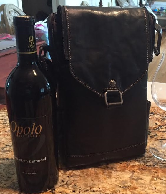 Voyager Crossbody Messenger & Wine Bag, Leather