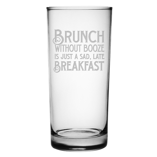 Brunch Without Booze Highball Glasses (set of 4)