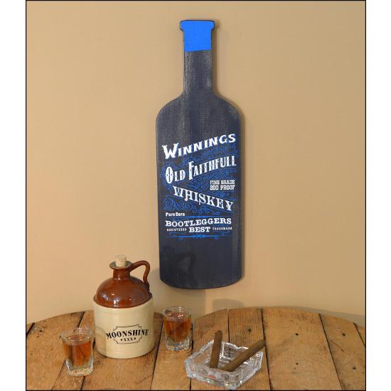 Personalized Old Faithful Whiskey Bottle Sign