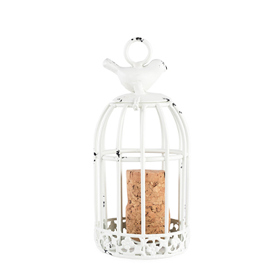 Keepsake Bird Cage Cork Holder Ornament by Country Cottage