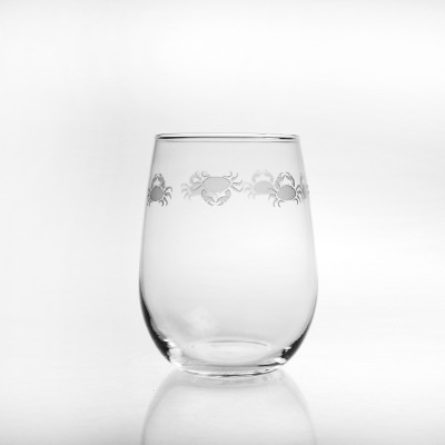 Cast of Crabs Stemless Wine Glasses (set of 4)