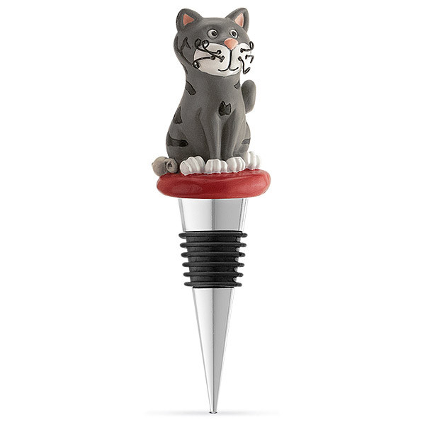 Cat and Mouse Bottle Stopper