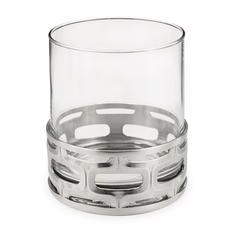 Cell Pewter Base Cocktail Tumbler