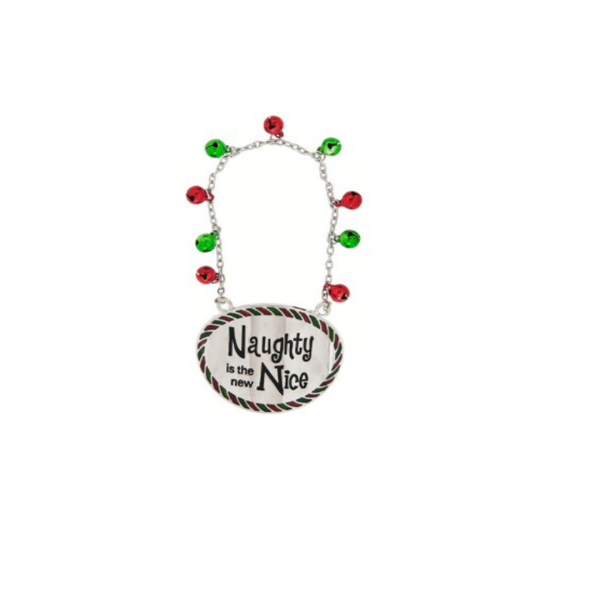"""""""Naughty is the New Nice"""" Holiday Wine Bottle Tag"""
