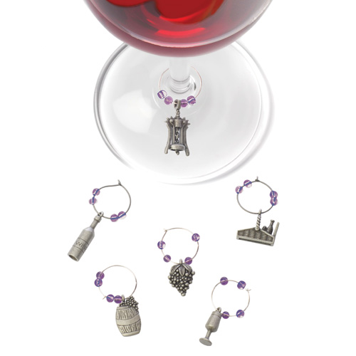 Charming Winery Wine Charms
