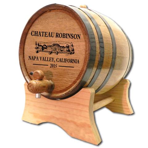 Personalized Chateau White Oak Aging Barrel