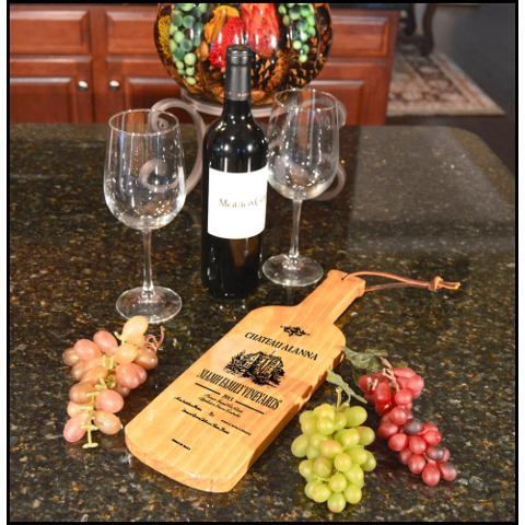 Personalized Chateau Bottle Shaped Server