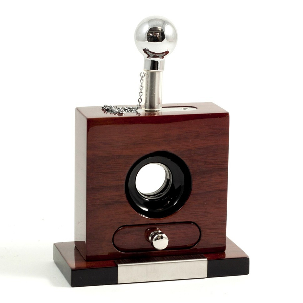 Table Top Walnut Cigar Cutter with Drawer