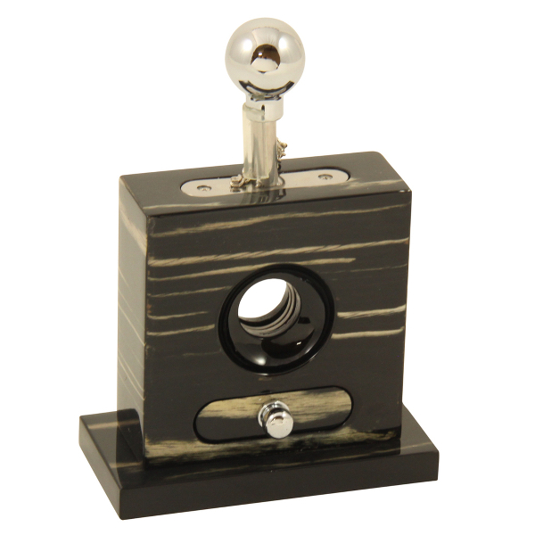 Table Top Ebony Cigar Cutter with Drawer
