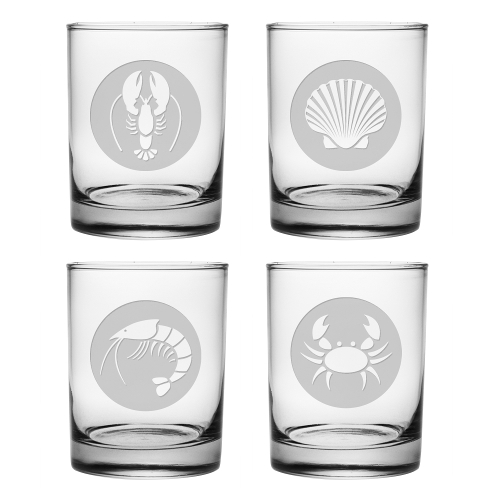Clambake Circles DOR Glasses (set of 4)