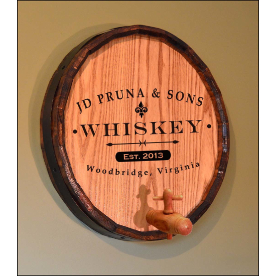 Personalized Classic Label Quarter Barrel Sign