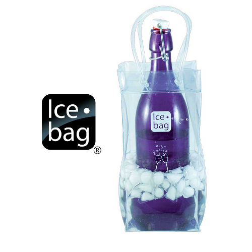 Ice Bag Collapsible Wine Cooler Bag, Clear