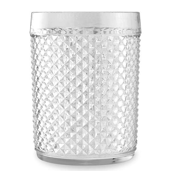 Clear Vintage Style Acrylic Tumbler - Set of 6