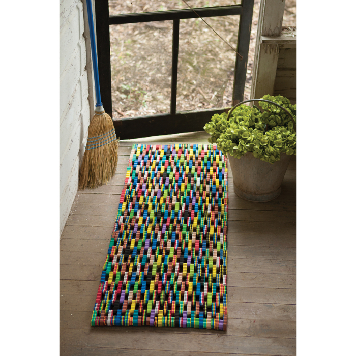 Recycled Flip Flop Large Rectangle Mat