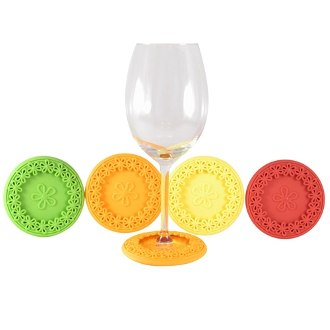 Sunrise Drink Coasters and Wine Charms