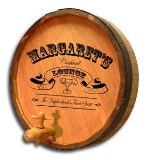 Cocktail Lounge Quarter Barrel Sign