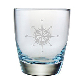 Compass Double Old Fashioned Glasses (set of 4)