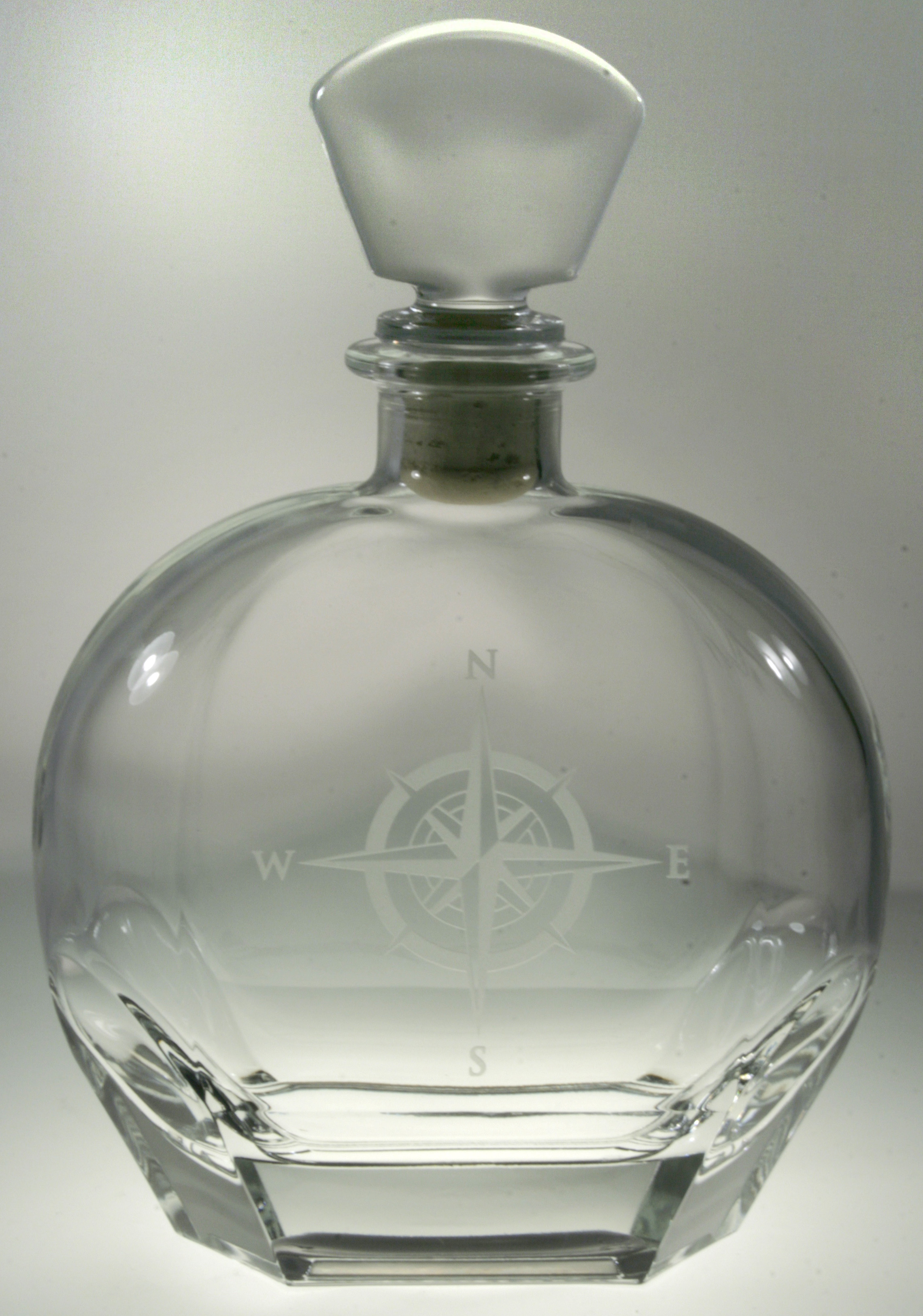 Compass Rose Whiskey Decanter