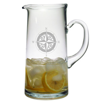 Compass Etched Tankard Pitcher