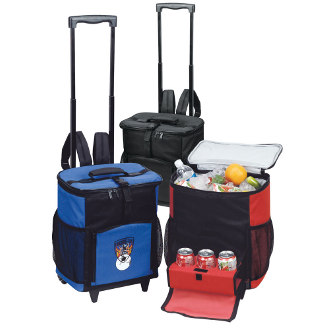 Rolling Picnic Cooler Shuttle With Tray