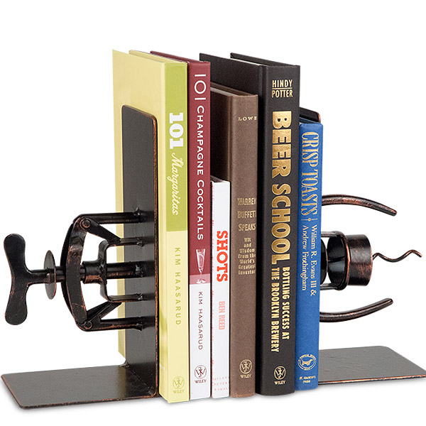 Antique Corkscrew Book Ends Are Solid Metal Work With Antique Finish