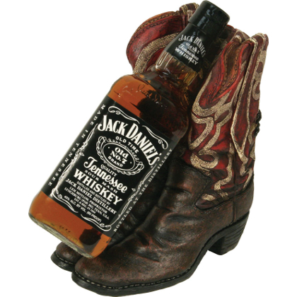 Cowboy Boot Whiskey Bottle Holder