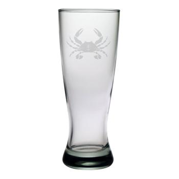 Crab Etched Grand Pilsner Glass Set