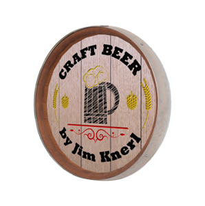 Personalized Beer Stein Barrel Sign
