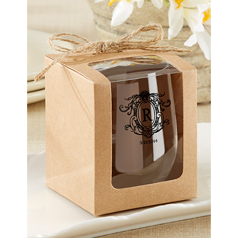 Personalized Stemless Wine Tumbler Wedding Favors