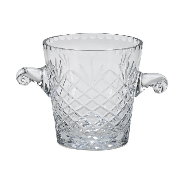 Optic Crystal Ice Bucket with Medallion II Pattern