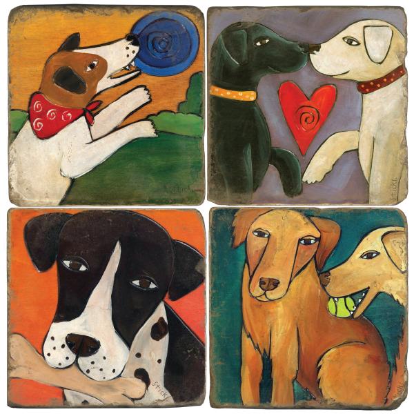 Dog Lovers Italian Marble Coasters