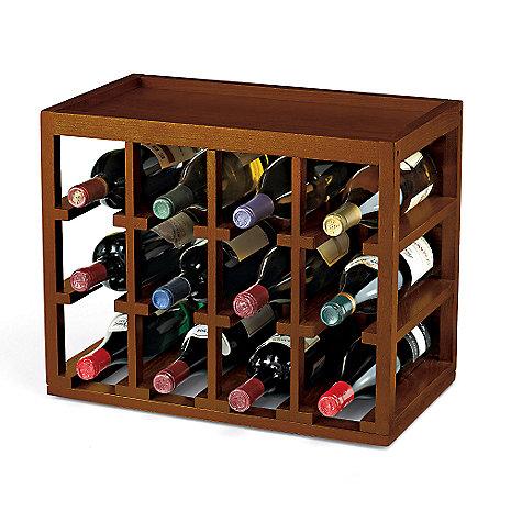 12 Bottle Stackable Wine Rack, Walnut