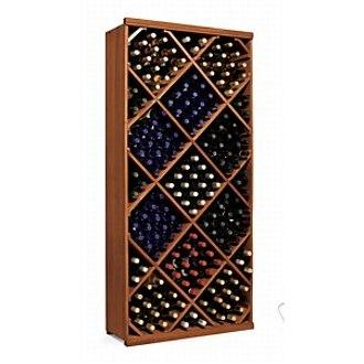 N'finity Wine Rack Kit Diamond Bin Walnut