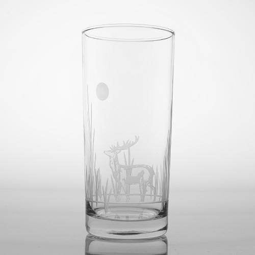 Etched Deer Cooler Glasses (set of 4)