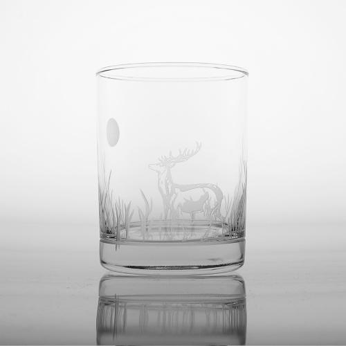 Etched Deer DOF Glasses (set of 4)