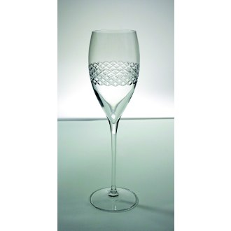 Diamond Band Champagne Flutes (set of 4)