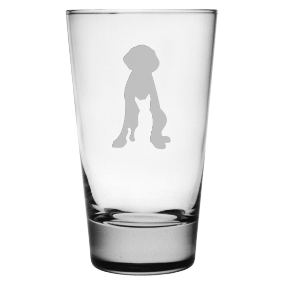 Dog and Cat Cooler Glasses (set of 4)
