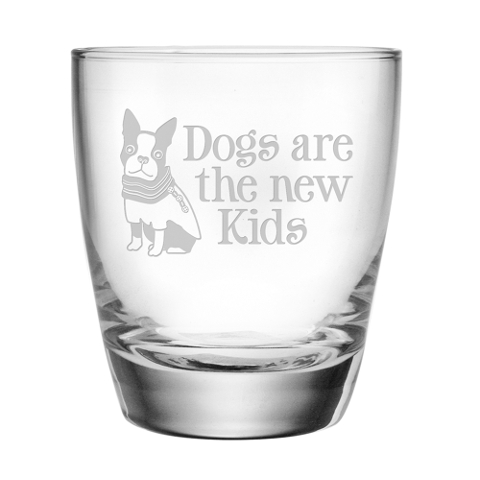 Dogs Are The New Kids DOF Glasses (set of 4)