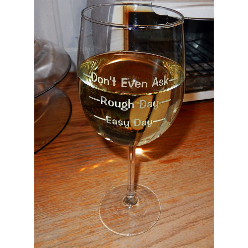 Don't Even Ask Novelty Wine Glasses (set of 2)